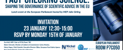 Fact-checking science event at the European Parliament