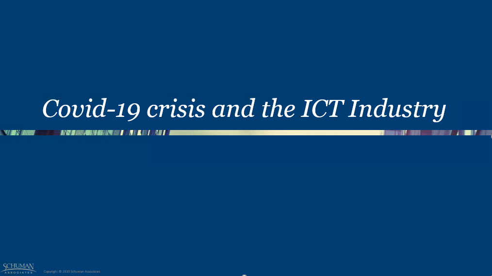Covid-19 Crisis and the ICT Industry